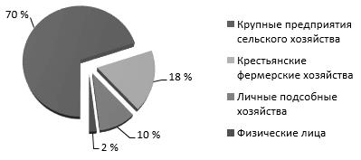 Структура кредитов, выданных АПК банками РФ