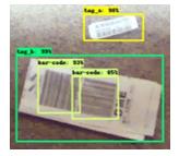 Локализация багажных бирок и штрих-кодов нейросетью